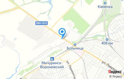 """Местоположение на карте пункта техосмотра по адресу Тамбовская обл, Мичуринский р-н, п """"Зеленый Гай"""", ул Автозаводская, зд 2А"""