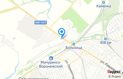 """Местоположение на карте пункта техосмотра по адресу Тамбовская обл, Мичуринский р-н, п """"Зеленый Гай"""", ул Автозаводская, д 2А"""