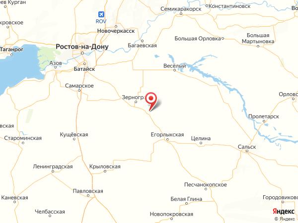 станица Мечетинская на карте