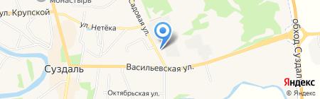 Зоомагазин на Садовой на карте Суздаля