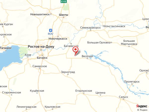 поселок Отрадный на карте