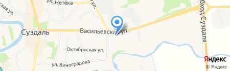 В Васильевском монастыре на карте Суздаля