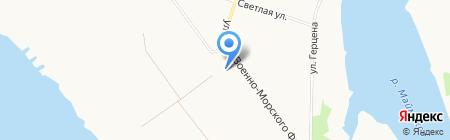 Пожарная часть №69 на карте Архангельска