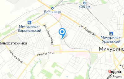 Местоположение на карте пункта техосмотра по адресу Тамбовская обл, г Мичуринск, ул Промышленная, д 2