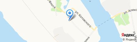 Библиотека №7 на карте Архангельска