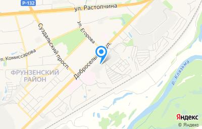 Местоположение на карте пункта техосмотра по адресу г Владимир, ул Добросельская, д 164А