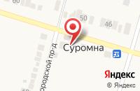 Схема проезда до компании Ритм в Суромне