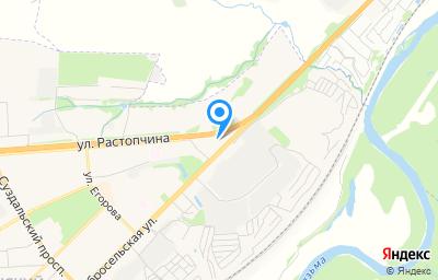 Местоположение на карте пункта техосмотра по адресу г Владимир, ул Добросельская, д 219Б