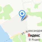 Лесозавод №14 на карте Архангельска