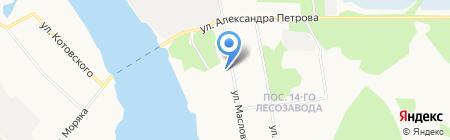 Почтовое отделение связи №21 на карте Архангельска