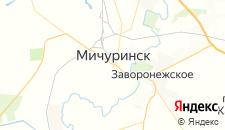 Гостиницы города Мичуринск на карте