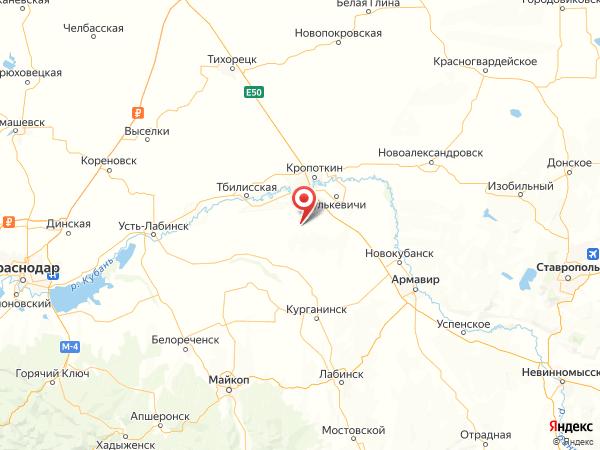 хутор Орлов на карте