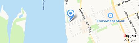 Отдел судебных приставов по Соломбальскому округу г. Архангельска на карте Архангельска