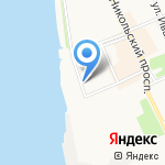 Автобаня на карте Архангельска