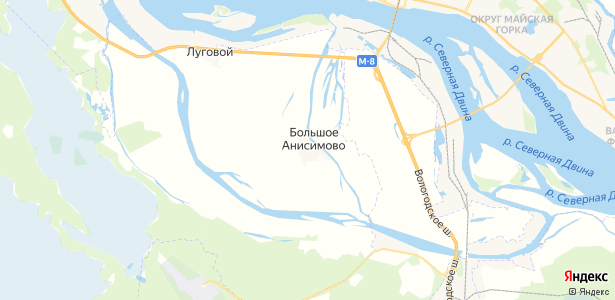 Большое Анисимово на карте