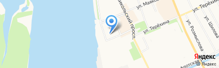 Делан на карте Архангельска