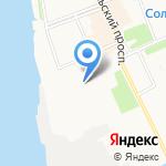 Воробышки на карте Архангельска