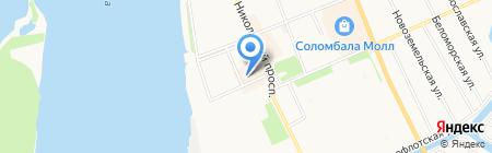 Чайкофф на карте Архангельска