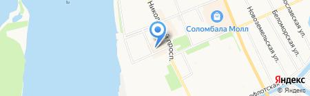Силуэт на карте Архангельска