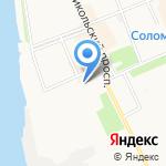 Соломбальская библиотека №5 им. Б.В. Шергина на карте Архангельска
