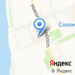 Никольский на карте Архангельска