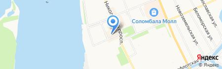 Идеальная фигура на карте Архангельска