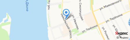 Кружка на карте Архангельска