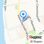 1xbet на карте Архангельска