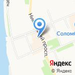 Палестра на карте Архангельска