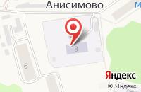 Схема проезда до компании Детский сад в Большом Анисимово