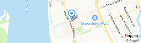 Девичья башня на карте Архангельска