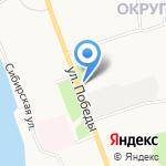 Каравай на карте Архангельска