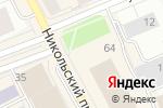 Схема проезда до компании Девичья башня в Архангельске