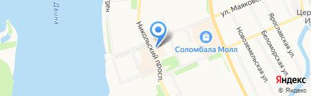 Соломбальский на карте Архангельска