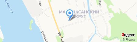 Городские бани на карте Архангельска