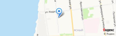 Детский сад №183 Огонек на карте Архангельска