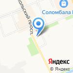 Торговые ряды на Никольском на карте Архангельска