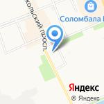 Лес и Дом на карте Архангельска