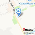 Соломбальский районный суд на карте Архангельска