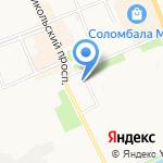 Макаровский на карте Архангельска