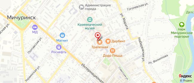 Карта расположения пункта доставки Халва в городе Мичуринск
