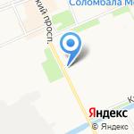 Следственный отдел по Соломбальскому округу г. Архангельска на карте Архангельска