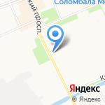 Профсмета-1 на карте Архангельска
