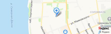 Печенька на карте Архангельска