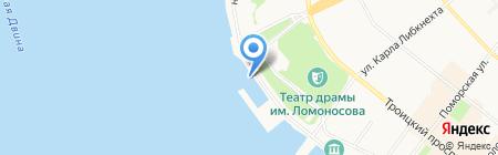 АКВАМАРИН на карте Архангельска