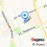 Сапожок на карте Архангельска