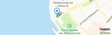 Леда на карте Архангельска