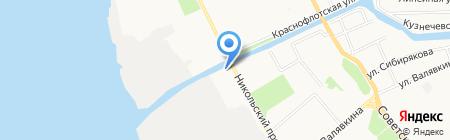 Ивановские ситцы на карте Архангельска