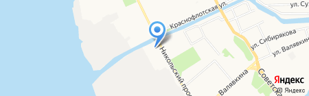 Деревня Деда Мороза на карте Архангельска