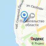 Потешный двор на карте Архангельска